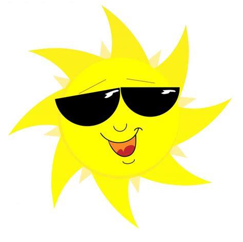 smiling sun in sunglasses free stock photo