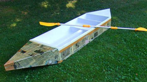 build  durable cardboard boat youtube