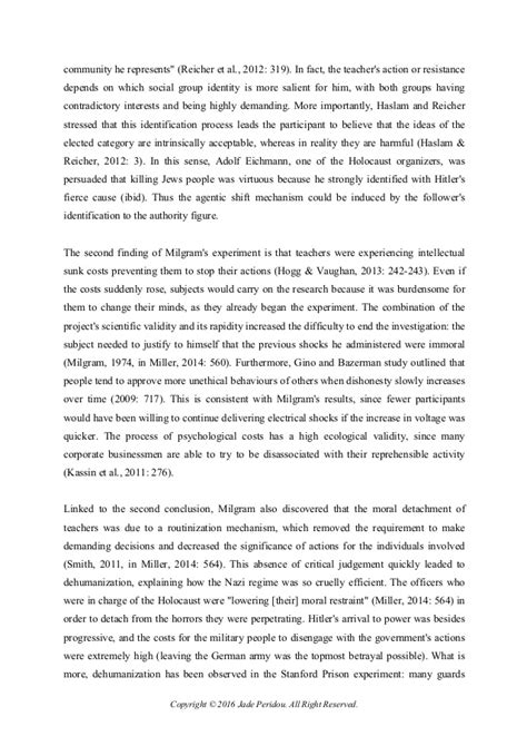 Obedience To Authority Essay by Obedience And Authority Essay Essaysbank X Fc2