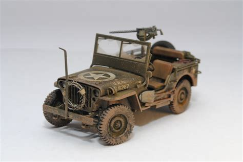 jeep tamiya 1 35 tamiya jeep willys mb 1 4ton scratch built barbed