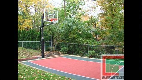 backyard basketball court backyard bar and grill college