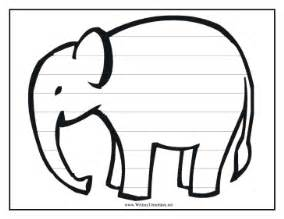 elephant template printable elephant writing template writing template