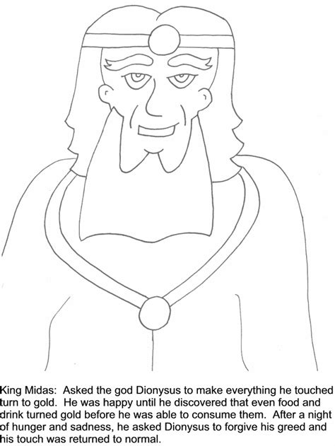 coloring pages of king midas midas greek coloring pages coloring book