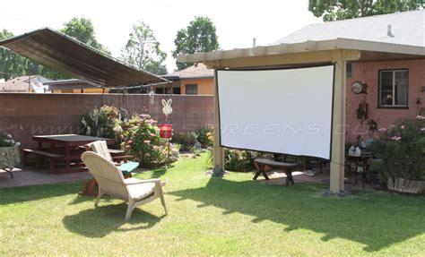 backyard projector screen diy diy pro screen series outdoor projector screens elite screens