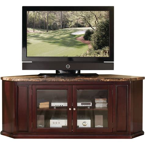 corner tv stands brown wood corner tv stand for tvs up to