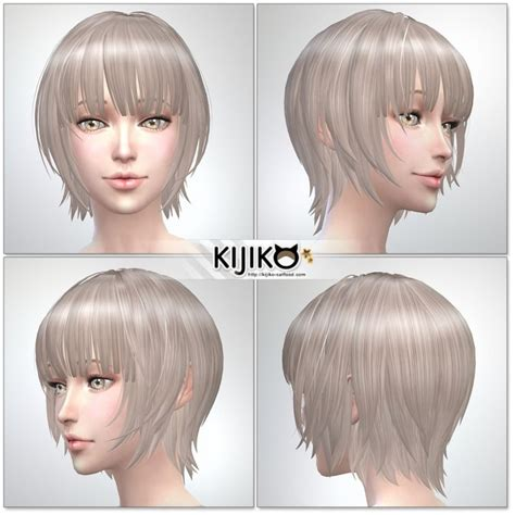 child bob haircut sims 4 bob with straight bangs for female at kijiko 187 sims 4