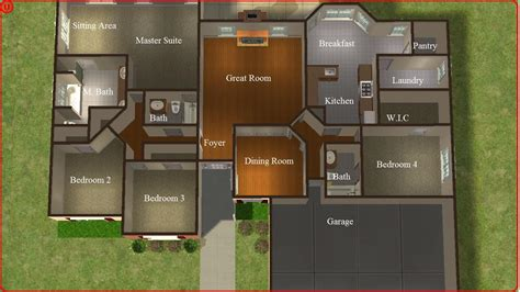 sims 3 6 bedroom house sims 2 lot downloads 4 bedroom ranch