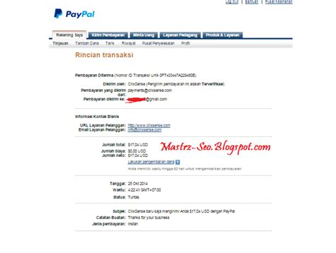 buat akun paypal lebih dari satu bukti pembayaran ptc clixsense terbaru masterz seo