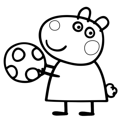 Suzy Sheep Coloriage Pour Les Enfants The Pig Coloring Pages