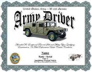 army driver humvee display recognition