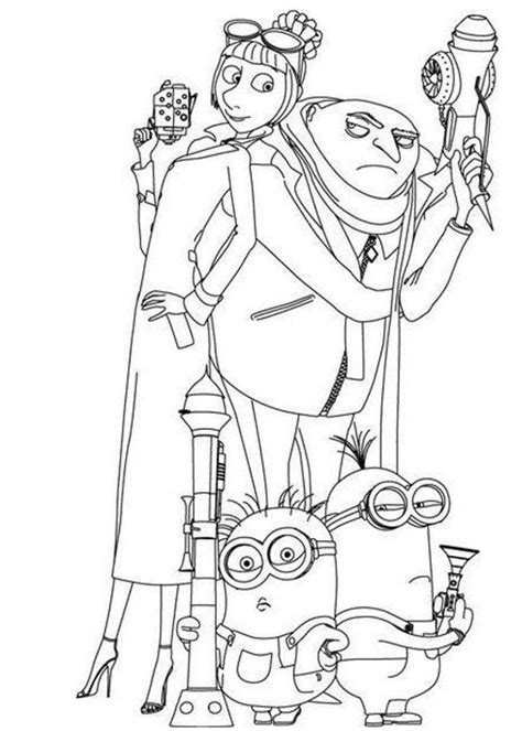printable despicable me coloring pages coloring me