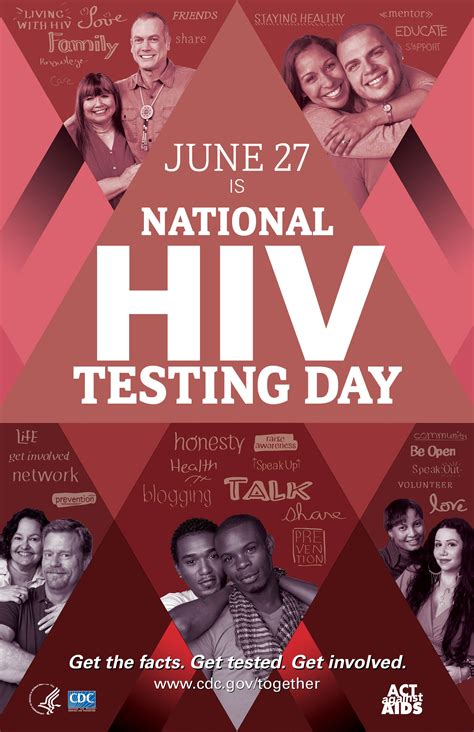 day posters national hiv testing day awareness days resource