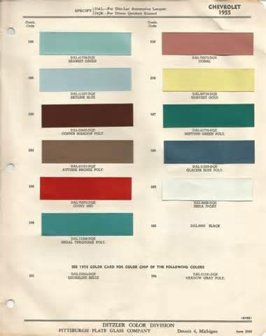 1956 Chevrolet Colors 1956 Chevrolet Bel Air Pinecrest Green Code 688 Car