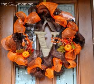 how to make a mesh wreath with two colors 12 easy diy deco mesh wreaths for fall shelterness