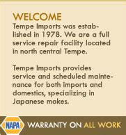 tempe imports auto car repair service imports
