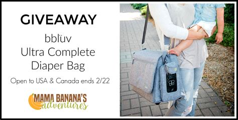 Diaper Bag Giveaway - bbluv ultra complete diaper bag giveaway usa ca ends 2 22 mama banana s adventures