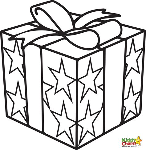 coloring pages of christmas presents present coloring pages