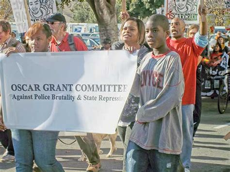 bart cop who punched oscar grant defending himself joint rally honors oscar grant the fight against police