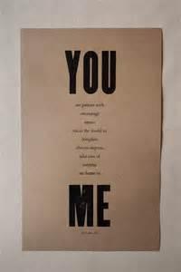 sweet words for wedding anniversary you me print 11x18 kraft paper
