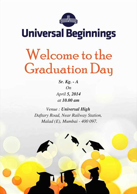 Graduation Day Invitation Card Templates by Invitation Card Graduation Ceremony Choice Image