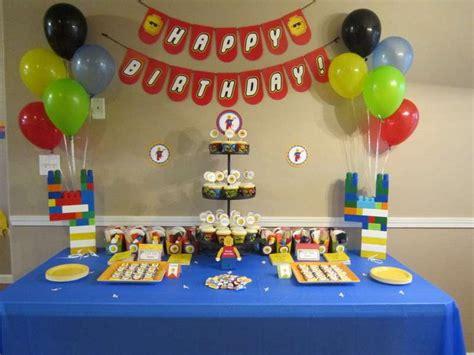 lego themed birthday decorations lego theme birthday ideas photo 7 of 11 catch my