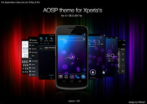 live themes for xperia c aosp theme for xperia ics by thilinac on deviantart
