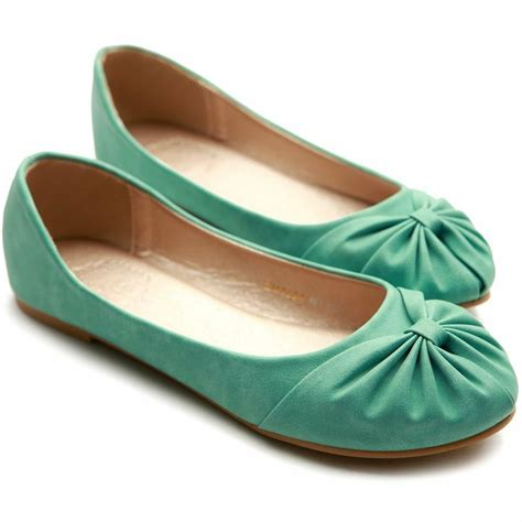 teal flat shoes ollio s ballet shoe comfy bow