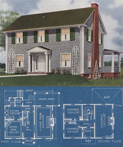 center hall colonial revival home inspired pinterest 1921 colonial revival american homes beautiful charles