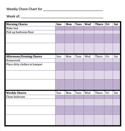 chore template chore chat template 14 free documents in word pdf