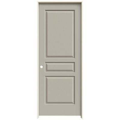3 panel interior doors home depot jeld wen 24 in x 80 in molded textured 3 panel square desert sand hollow composite single