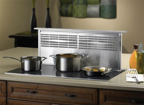 induction cooktop with downdraft ventilation ce center