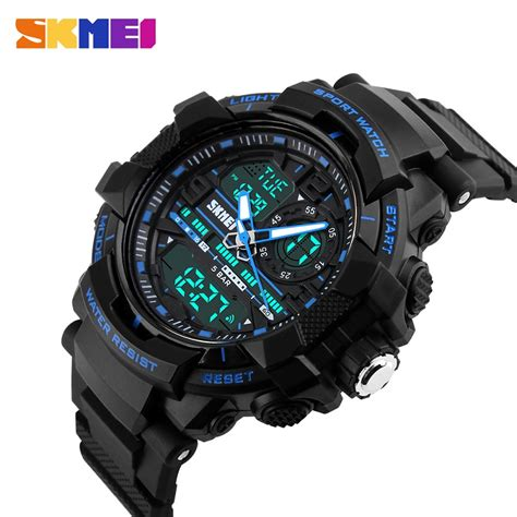 Jam Tangan Skmei 1155 Waterproof Digital Analog 100 Original Murah skmei jam tangan analog digital pria ad1164 black blue jakartanotebook