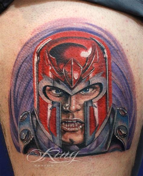 magneto tattoo magneto comics color colors fabio king