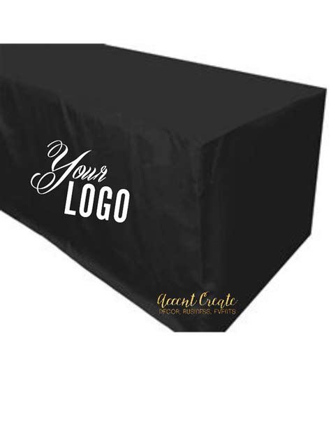 4ft fitted tablecloth personalized table cloth logo