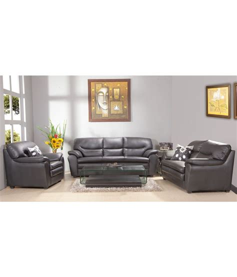 3 2 1 sofa set hometown tagus leatherite 3 2 1 sofa set buy hometown