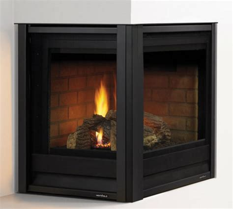 heat glo corner series gas fireplace portland