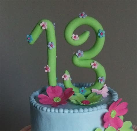 Handmade Cake Decorations - handmade fondant number cake topper birthday cake