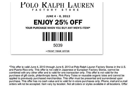 polo outlet coupon