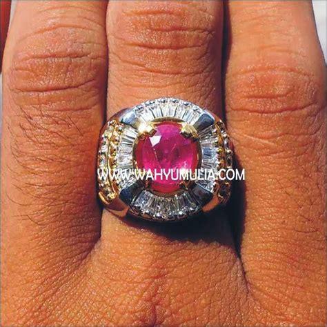 Cincin Batu Ruby Memo 8 batu permata ruby sold batu permata
