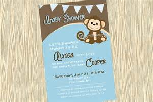 baby shower invitation monkey printable by asyouwishcreations4u