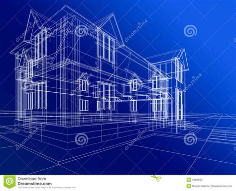 abstract house construction stock illustration