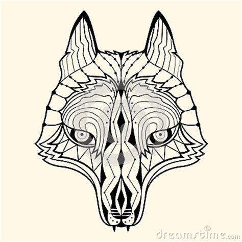 Wolf Zentangle Outline by Wolf Zentangle Stock Vector Image 50343796