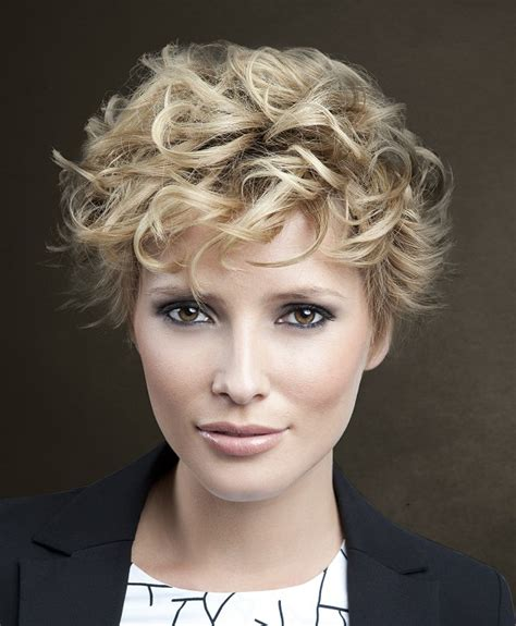 hairstyles for short curly hair uk a short blonde hairstyle from the art ego collection by