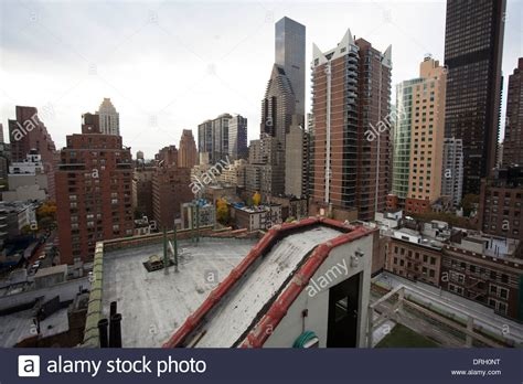 New City Top new york city roof top view stock photo royalty free