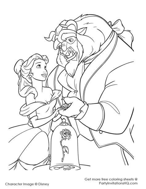 Beauty And The Beast Coloring Pages Bestofcoloring Com And The Beast Printable Coloring Pages