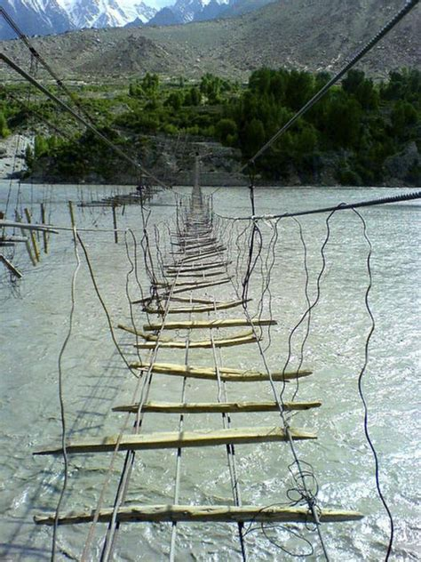 rope swing bridge top scariest bridges take the risk xcitefun net