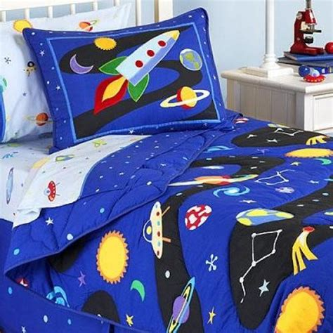 rocket ship bedding out of this world comforter set eclectic kids bedding