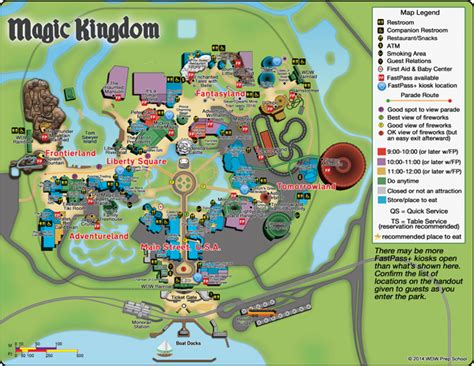 printable version of magic kingdom map fastpass at magic kingdom for on site and off site guests