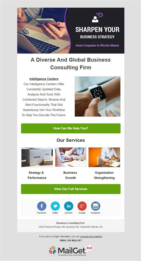 9 best business email templates for business consultancy