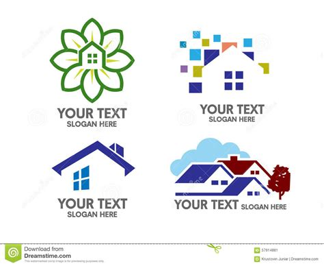 Cabin Style Home Plans modern real estate and house logo concept stock vector